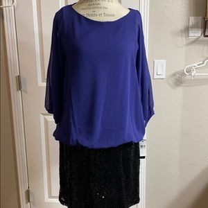 NWT party dress with sequins